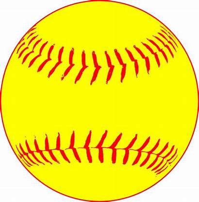 Softball Yellow Clip Clipart Vector Clker