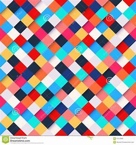Abstract Colorful Square Pattern Background Royalty Free ...
