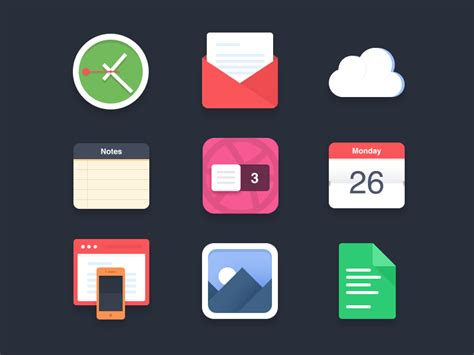 30+ Best Examples Of Modern Flat Icon Set