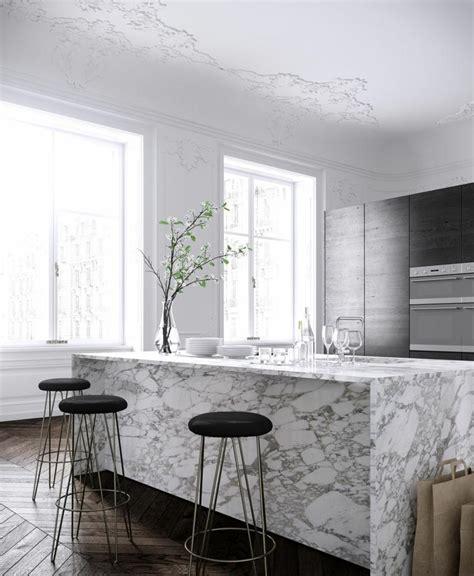 marbre cuisine plan de travail marbre sublimer sa cuisine avec un