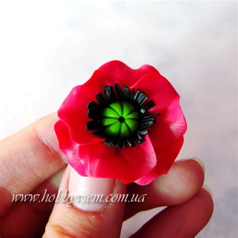 tutoriel comment faire un coquelicot en fimo le de miss kawaii
