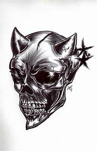 The gallery for --> Pencil Drawings Of Demon Skulls