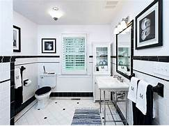 Bathrooms With Black And White Tile by Black And White Tile Bathroom Decorating Ideas Pictures