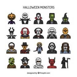 Classic Halloween Monster List by De Hand Getekende Halloween Monster Vector Gratis Download