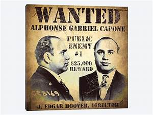 Al Capone Wanted Poster Canvas Print By Vintage Apple