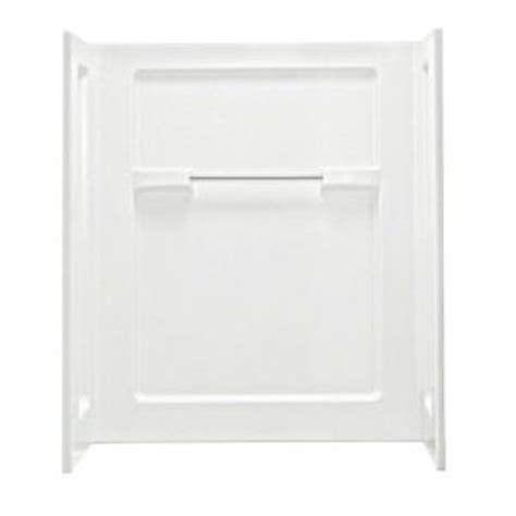 home depot direct catalog sterling 35 1 4 in x 48 in x 56 in 3 piece direct to stud shower wall set in white 62034106 0
