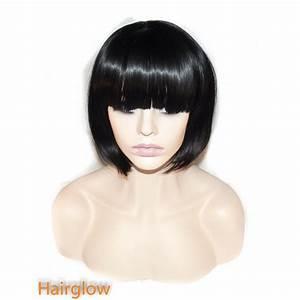 Hairglow Black Short Bob Human Hair Wig Hairglow From