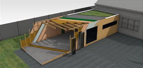chambre bretonne extension bois et