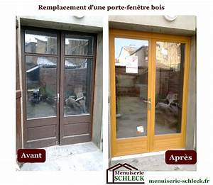 menuiserie renovation schleck nos realisations With renovation porte fenetre bois