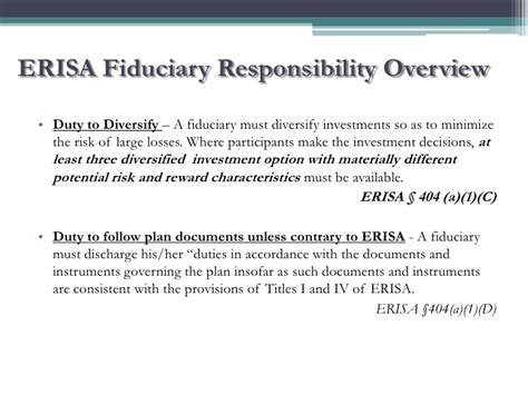 erisa section 404 c njscpa 2011 fiduciary responsibilities and risk