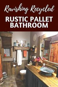stupendous rustic pallet bathroom transformation o 1001 With kitchen cabinet trends 2018 combined with jar candle holders diy