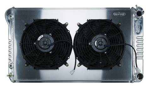 chevelle cold case aluminum radiator fan kit