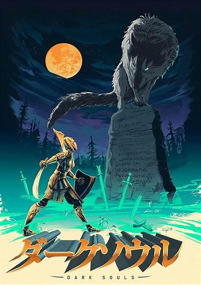 Sif Souls Dark Wolf Grey Posterspy Poster
