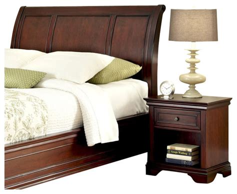 Home Styles Lafayette Sleigh Headboard And Night Stand