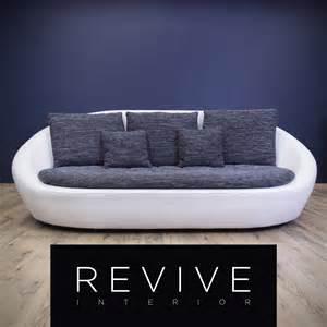 sofa stoff grau designer sofa weiß grau leder opt dreisitzer modern struktur stoff 1181 ebay