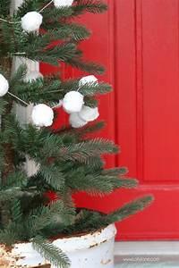 White, Pom, Pom, Christmas, Tree, Garland, Tutorial