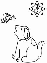 Coloring Pages Dog Dogs Animals Stick Figure Cliparts Cheerleader Silly Babies Library Clipart Clip Popular Butterfly sketch template