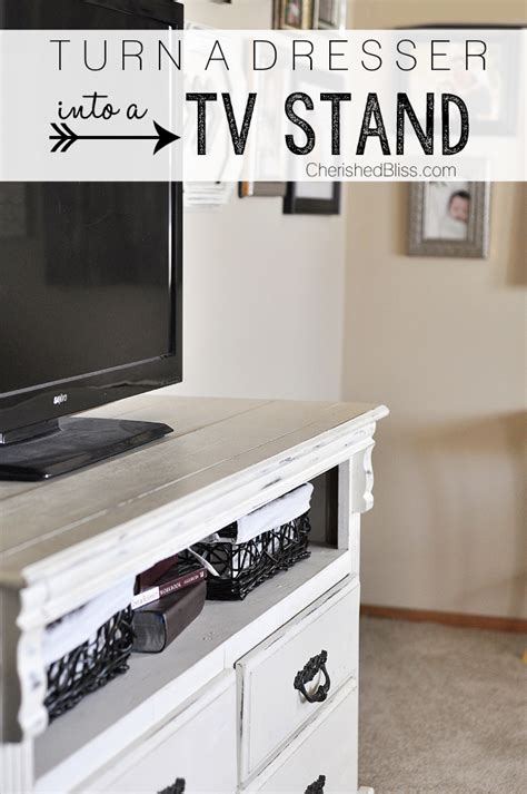 how to turn an dresser into a kitchen island how to turn a dresser into a tv stand cherished bliss 9973