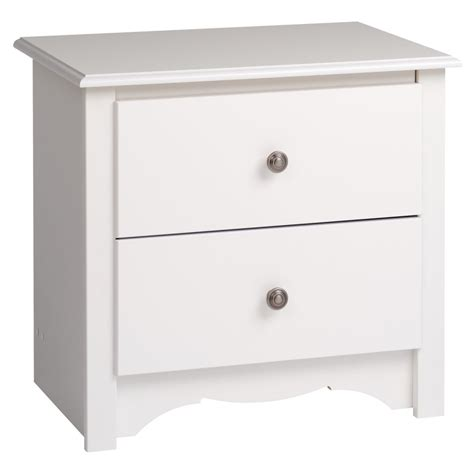 side table with two drawers white finish nightstand wooden bedside table 2 drawer end