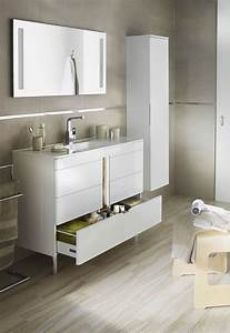 Pied Pour Meuble De Salle De Bain : salle de bains lapeyre les nouveaux meubles de salle de bains c t maison ~ Teatrodelosmanantiales.com Idées de Décoration