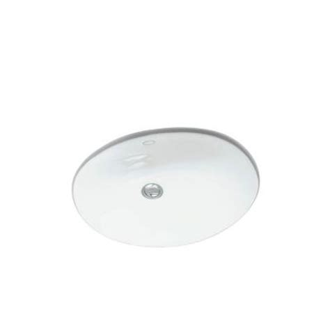 kohler caxton undermount bathroom sink in white k 2209 0