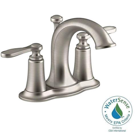 kohler bathroom sink faucets centerset kohler linwood centerset bathroom faucet brushed nickel