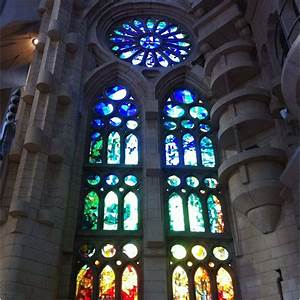 La Sagrada Familia, Barcelona, Spain - Stained-glass ...