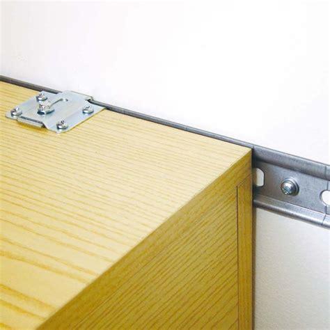 fixation element haut cuisine sur placo rail en acier galvanisé pour l 39 accroche des éléments