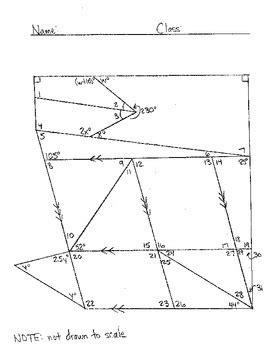 determining missing angle measures worksheets   haude