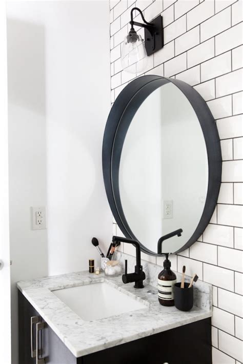 black oval bathroom mirror 5 easy ways to style a modern farmhouse bathroom 17412