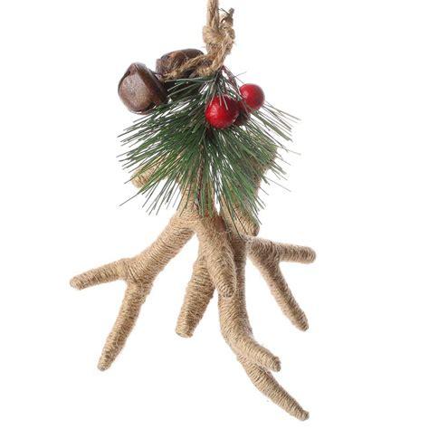rustic natural jute antlers ornament christmas ornaments