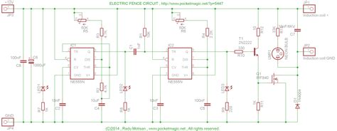 electronic fence electric fence circuit for perimeter protection pocketmagic
