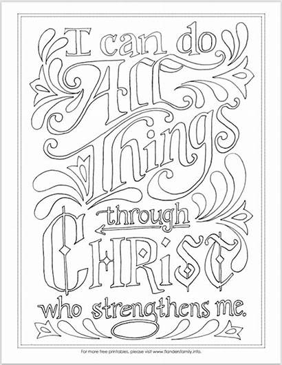 Coloring Things Pages Philippians Printable