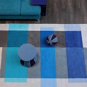 tapis design gris et bleu par arte espina With tapis gris et bleu