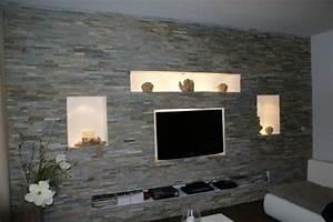 Steinwand Wohnzimmer Tv : die obi selbstbauanleitungen wohnzimmer wohnen und fernseher ~ Bigdaddyawards.com Haus und Dekorationen