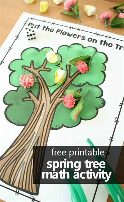 tree math fantastic amp learning 702 | free printable spring tree math activity for preschool and kindergarten. preschool kindergarten freeprintable