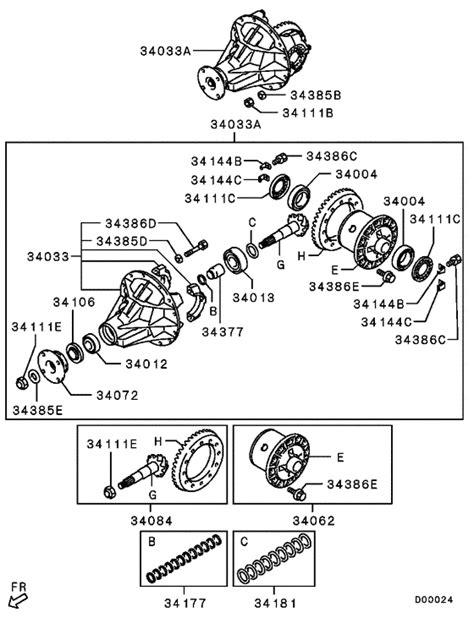 rear axle differential for mitsubishi l200 triton sportero strada kb9t mmth sales region