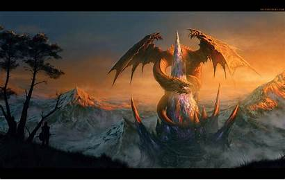 Dragon Wallpapers Castle Awesome Dragons Randis Background