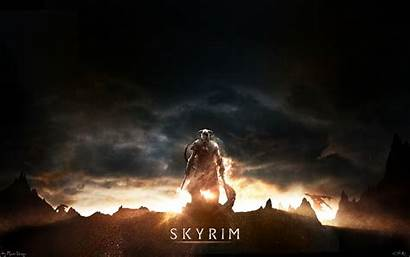 Skyrim Wallpapers Sunset Dragonborn Backgrounds Mobile 1080p