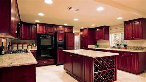 Cherry Cabinets by Kitchen Colors With Cherry Cabinets