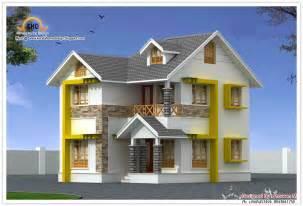 beautiful duplex house elevation 1440 sq ft kerala