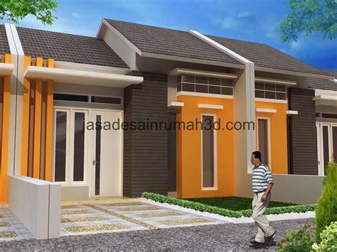 desain depan rumah minimalis type  wallpaper dinding