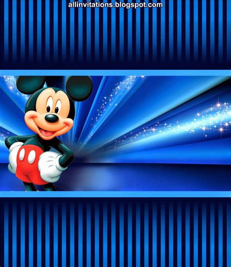 kit imprimible mickey mouse  invitations