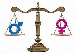 Equilibrar la balanza de la igualdad de género — Foto de ...