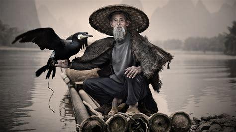 wallpaper cormorant li river xingping china fishing village bird national geographic