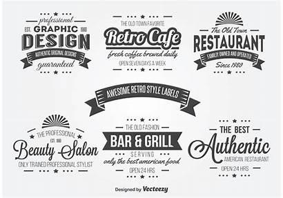 Label Retro Typography Vectors Vector Graphics
