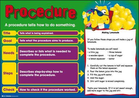 procedural writing procedure writing styles