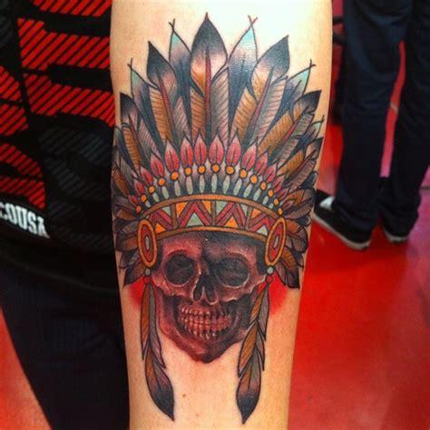 native american skull tattoos