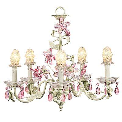 Crystal Flower 5 Light Chandelier Wayfair