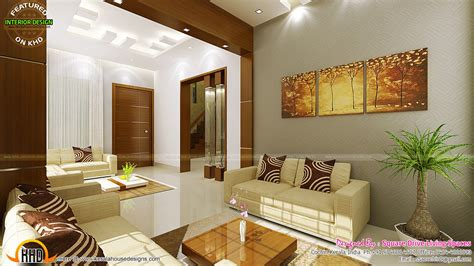 home interior design contemporary kitchen dining and living room kerala home